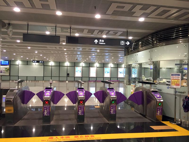 台北桃園機場機場捷運快線乘坐方法