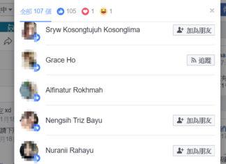 Facebook 廣告行銷排除菲傭Like